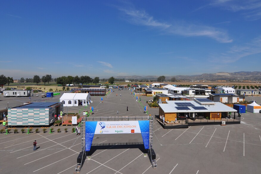 The 2015 U.S Department of Energy Solar Decathlon opened on October 8 at the Orange County Great Park in Irvine, Calif.
