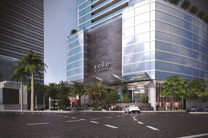 Echo Brickell, codeveloped by Property Markets Group and JDS Development, accounts for 180 units of more than 22,000 in the pipeline for downtown Miami.