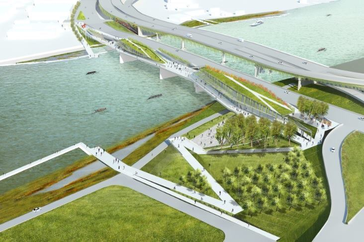 While this project encourages social exchange and an easier commute, it also wants to maintain a healthy river environment.