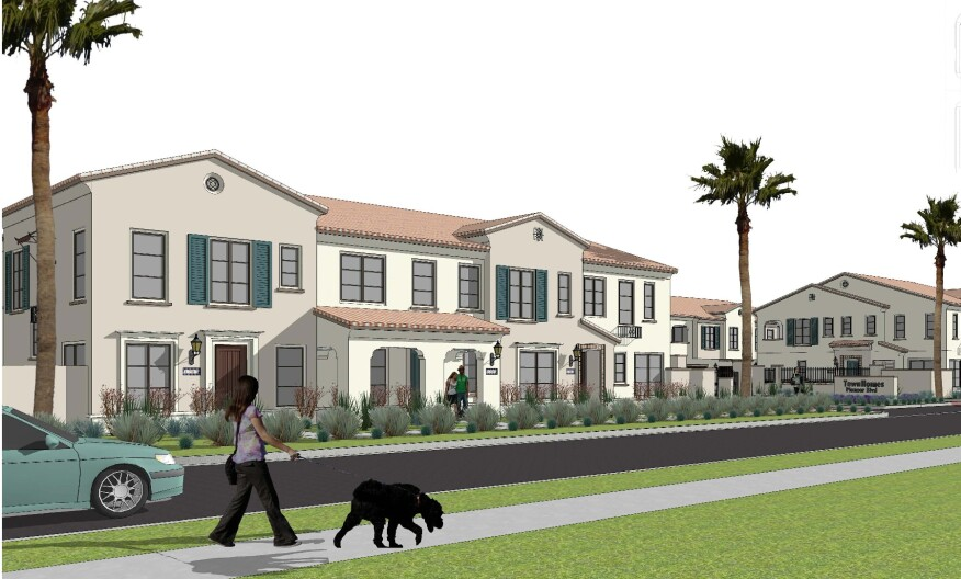 Brandywine Homes' Sunstone community in Norwalk, Calif., will include 31 townhomes ranging in size from 1,115 to 1,501 square feet.