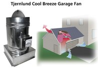 Cool-Breeze™ Garage Fan Automatically  Ventilates and Cools hot Garages