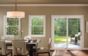 Pella windows and doors in wood, aluminum-clad wood, fiberglass and vinyl