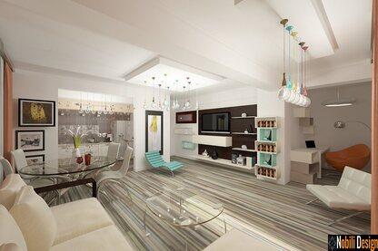 Interior design of a modern condo