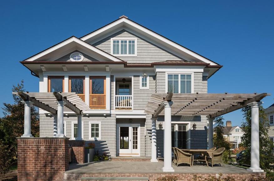 Shingle style beach house custom home magazine richard for House plans beach style
