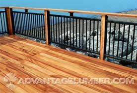 Figure 1. Tigerwood decking is Advantage Trim & Lumber Company's less expensive alternative to ipe. Tigerwood has a 25-year (or longer) life span, is Class A flame retardant, and is resistant to scratching, splintering, and cracking, says the company. (877/232-3915, www.advantagelumber.com)
