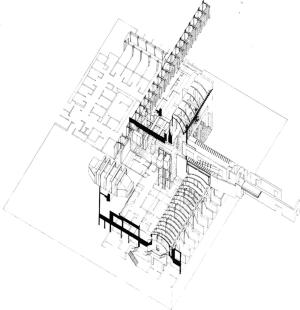 Cancer Center Axonometric Plan