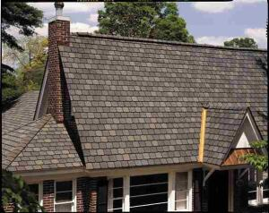 Asphalt shingles, such as these from CertainTeed, dominate new home construction and even the reroofing market because they are economical, easy to install, and last about 20 years.