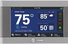Offer a comfortable home environment with a Trane Wi-Fi connected thermostat with controls to adjust settings from anywhere with the Nexia software.