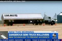 Remote-Controlled Tractor Trailer Rollover Caught on Video