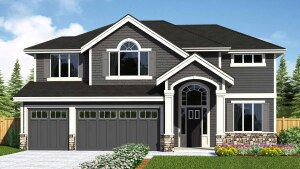 A rendering on the Summit Homes website of one of the homes in the development.