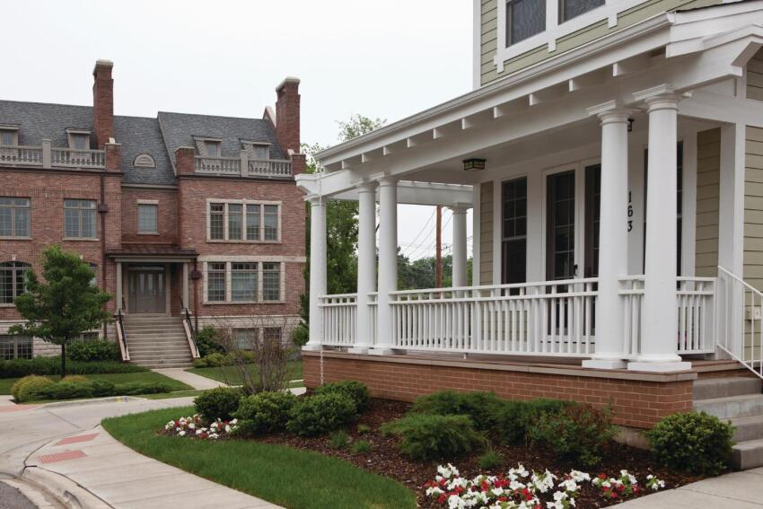 Lemons to Lemonade Built on the site of a project gone bust, the bungalows of SchoolStreet Homes complement a row of existing brownstones.