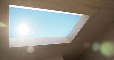 Faux Skylight Mimics the Sun and Clouds