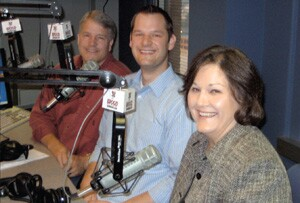 For four years, Pat (back), Ben, and Sandra Thompson, of Thompson Remodeling have hosted a weekly radio show that advises homeowners about home improvement and also brings in leads for their company.