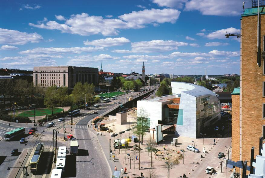 Located adjacent to Finland's most important monument and opposite the National Parliament, Kiasma is both a national museum and a city landmark in the heart of Helsinki.