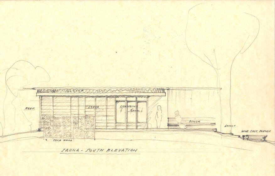 South elevation sketch.