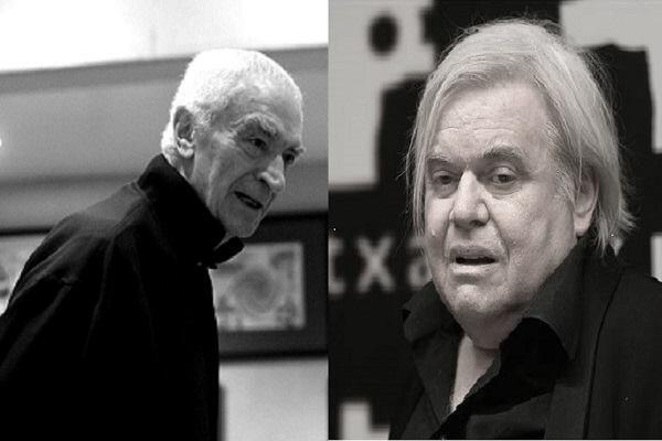 Left: Massimo Vignelli; Right: H.R. Giger