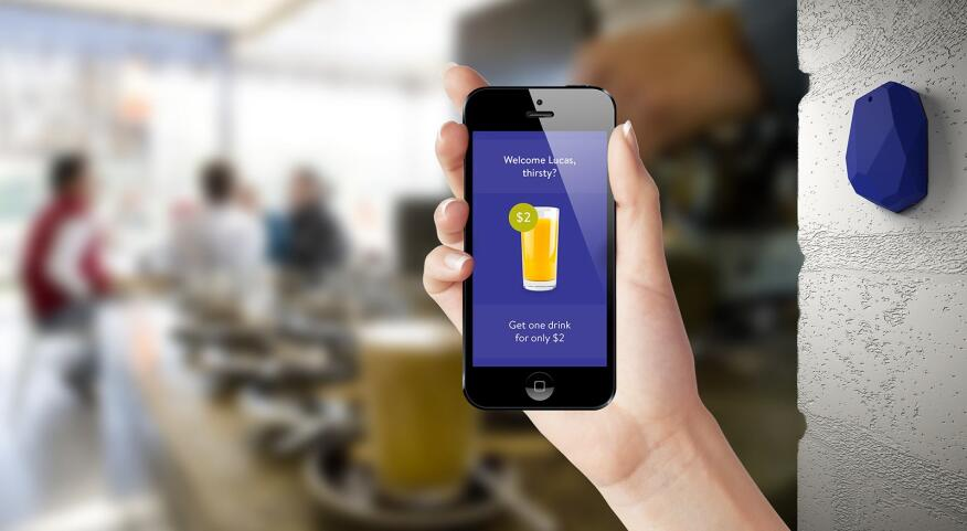 Sensors, such as the Estimote Beacon, placed in the built environment can speak to indoor positioning apps in mobile devices to give users location-specific information, and building owners information about their patrons.