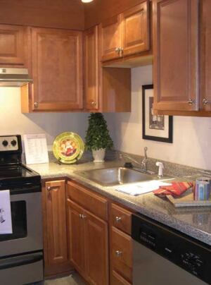 The 41-year-old Beckanna Apartments in Raleigh, N.C., now boasts modern kitchens with the high-end look of stainless steel, granite, and more.