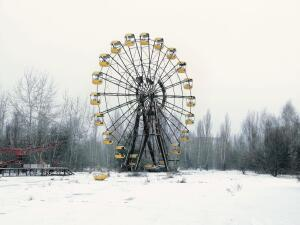 "Book  In A Common Destiny, photographer Cédric Delsaux shows a world in which humans and nature are increasingly at odds. But these images—including a series from the ghost town of Pripyat, Ukraine (above), where the Chernobyl disaster occurred—are not about journalism or polemics. In an interview printed in the book, Delsaux says of his yearlong photographic journey around the globe, ""I am filled with admiration, hatred, fascination, and disgust all at once."" Paging through image after image of terrible beauty, one cannot help agreeing with him. $75; The Monacelli Press"