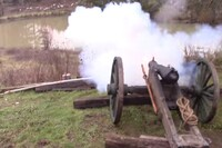 Shooting a Homemade Cannon and Mortar