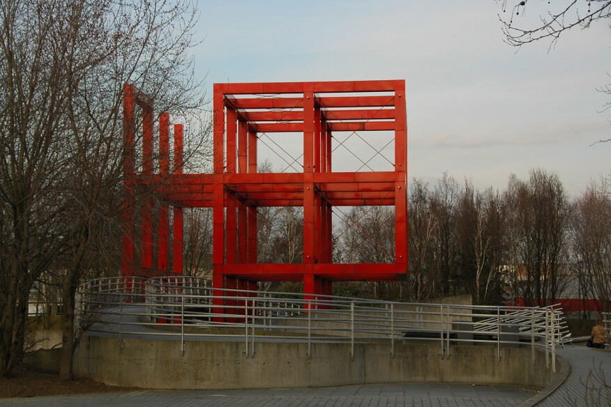 A folly within Parc de la Villette