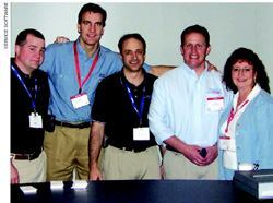 The Service Software team presents Punchlist Manager.Net at IBS 2006; left to right: Mike Rhyne, Dan Long, Dave Eisenberg, Tom Cirman, and Deb LaBrosse.