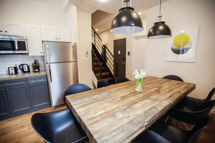 Coliving spaces typically include a place to share meals with other residents.