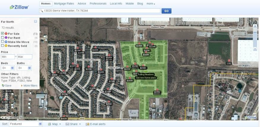 A Finer Line. One of the improvements to Zillow.com's search function is the way it identifies when new homes are part of a specific neighborhood or community.