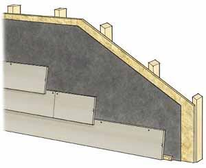 Figure 10. Most fiber-cement and engineered lap sidings are blind-nailed; that is, the nails are hidden beneath the lap of the upper course. When reinstalling such sidings, though, the last course will require face nailing, as there's no way to nail underneath the course above.