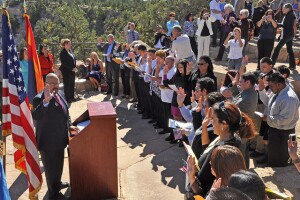 A naturalization ceremony at the Grand Canyon on Thursday, September 23. Photo courtesy by Michael Quinn and National Parks Service.