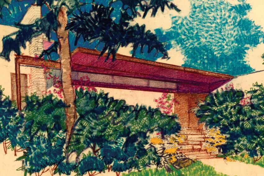 Richard Neutra Drawings at the L.A. Central Library