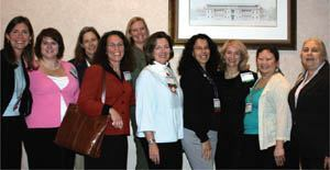 The ACI women fellows gathered at the Women in ACI meeting in November.