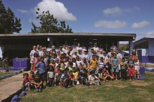Lonza employees and dealers updated a school building in Costa Rica as part of Lonza's People Extending a Caring Hand (PEACH) program.