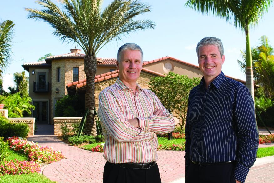 Left to right: Mark Wilson, president and CEO, and Stephen Wilson, vice president and CFO