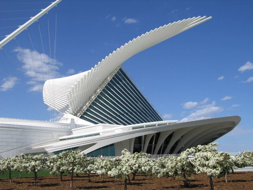 The Milwaukee Art Museum, by Santiago Calatrava, FAIA.