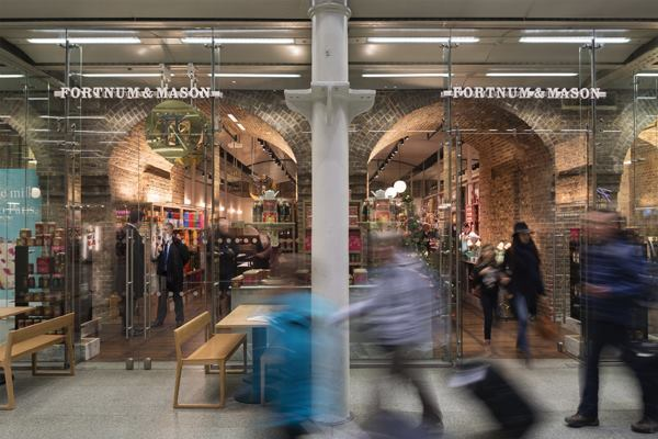 A view of Fortnum & Mason's new store in London's St. Pancras International transportation and retail center.