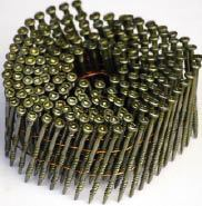 Figure 3. NailScrews are relatively new to the market. Driven with a pneumatic nailer, they're as fast to install as any other nail, and their heads allow them to be backed out or driven deeper with a screwdriver.