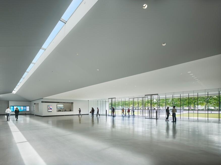 The entry lobby.