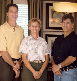 BUILDERS: The Issa Homes team, from left to right: Jeff Marchell, vice president; Leslie Carlton, project superintendent; Don Hempel, vice president. Not pictured: Francis Issa, president and founder.