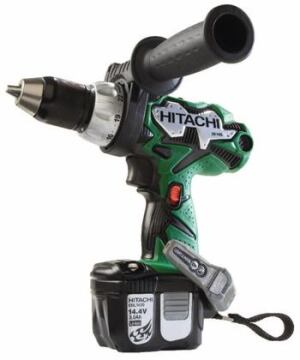 TWO STEP: This new line of 14.4-volt cordless tools offers lithium-ion technology that  provides three times the life of standard batteries, according to the manufacturer. Featuring  approximately 1,300-1,500 cycles (the number of times  a user can recharge the battery), the DS14DL drill shown generates 460 inch-pounds  of torque and is ideal for wood, plastic, aluminum, and other metals. A  two-step speed switch with four speed settings is located on the side. Hitachi  Power Tools USA. 800-829-4752. www.hitachipowertools.com.