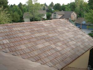 DaVinci Roofscapes BellafortÈ polymer roof looks like wood but offers benefits beyond wood shakes.