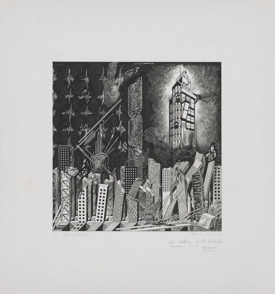 Franco Purini,La terra desolata(The Waste Land), 1984. © Franco Purini. From the Collection of the Alvin Boyarsky Archive.