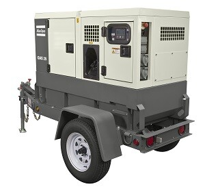 The new Atlas Copco QAS 25 generator is equipped with an Isuzu 4LE engine and a Diesel Oxidation Catalyst (DOC) to achieve Tier 4 Final emission levels without the need for diesel exhaust fluid or a diesel particulate filter system.