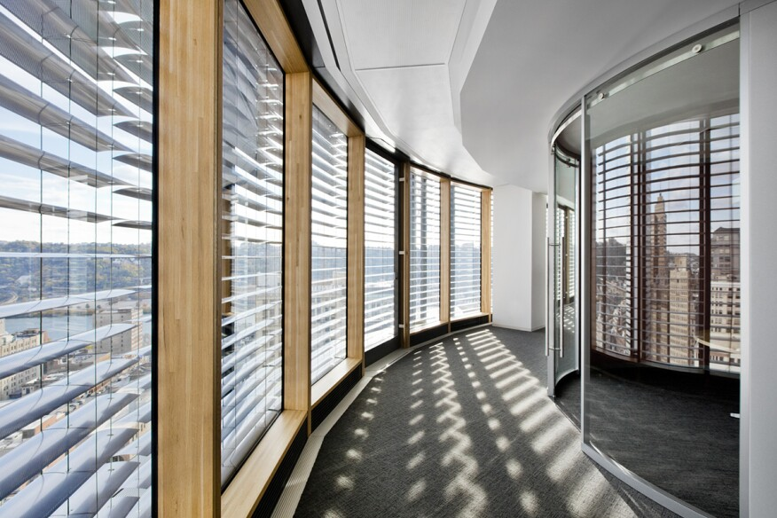 Inner Curtain Wall : Award the tower at pnc plaza architect magazine high