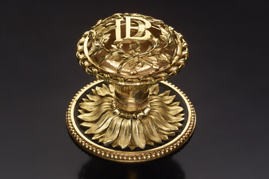 Knob for a French window by Pierre Gouthière, designed by Claude-Nicolas Ledoux (ca. 1770)