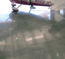 This aircraft hanger is an example of the many applications for polished concrete floors. The largest specification, in terms of gross square footage, is for retail big box applications.