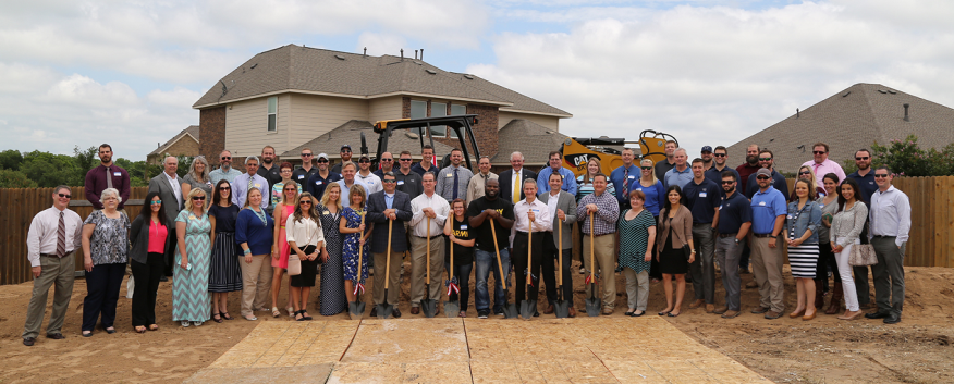 MHI teamed up with Operation Finally Home to build a new home for two veterans and their children in Round Rock, Texas.