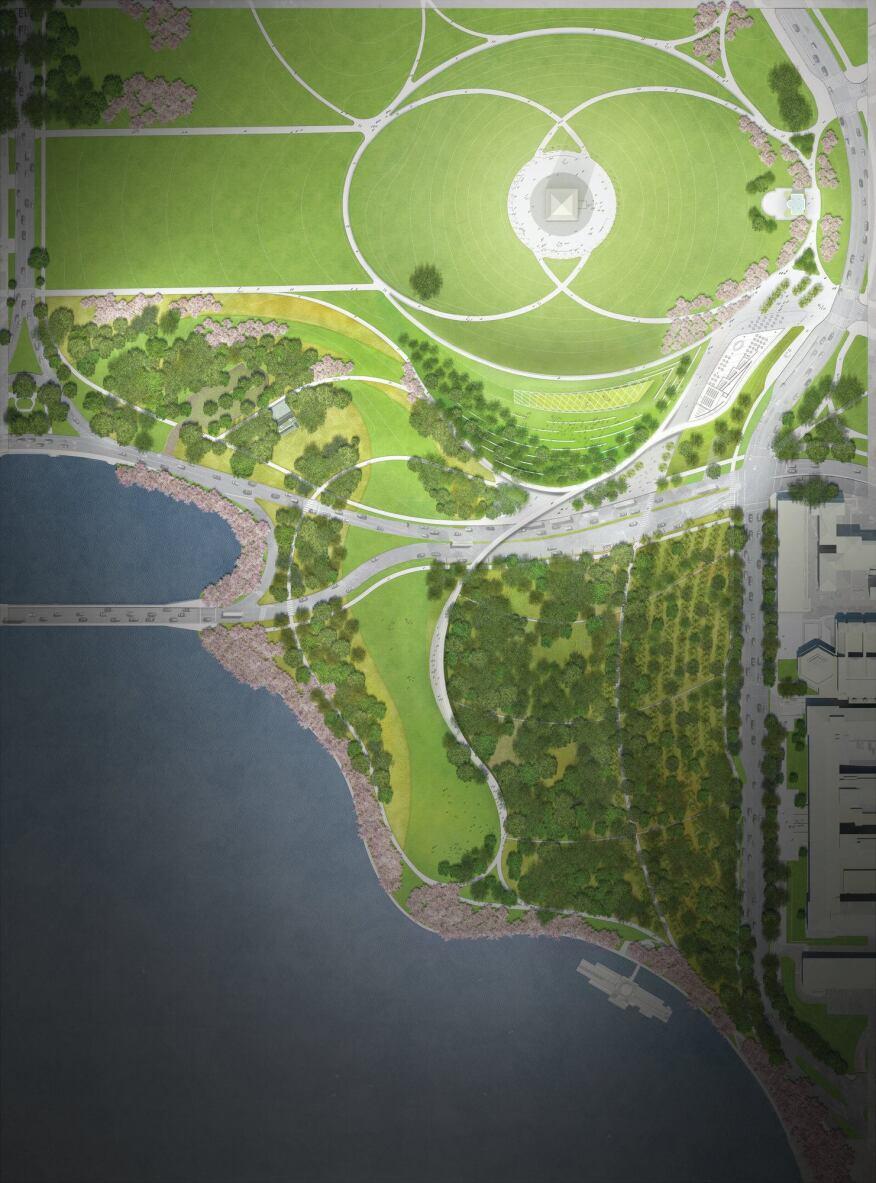 Site plan rendering.