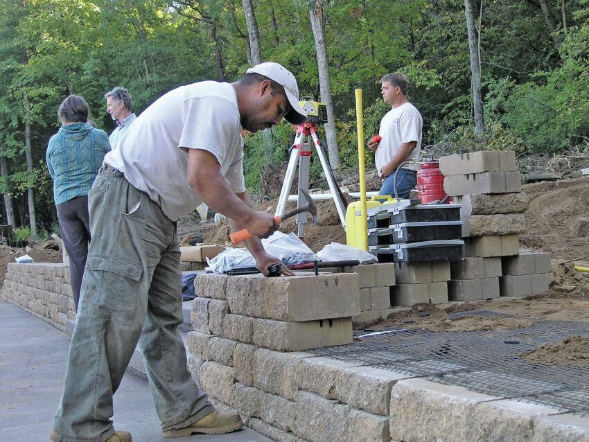 Block Retaining Walls Professional Deck Builder