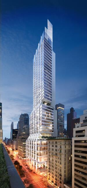 A rendering of the new 425 Park Street, as visualized by Foster + Partners.